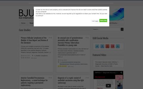 Screenshot of Case Studies Page bjuinternational.com - Case Studies - BJUI - captured Feb. 7, 2016