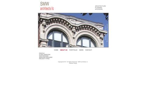 Screenshot of About Page smw-arc.com - About SMW architects - captured Feb. 3, 2016
