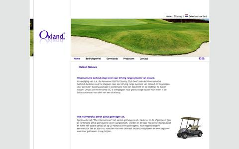 Screenshot of Home Page Site Map Page oxland.nl - Oxland, de leverancier van golfbaan materiaal & accessoires, driving range producten en golfwagens - captured Oct. 9, 2014