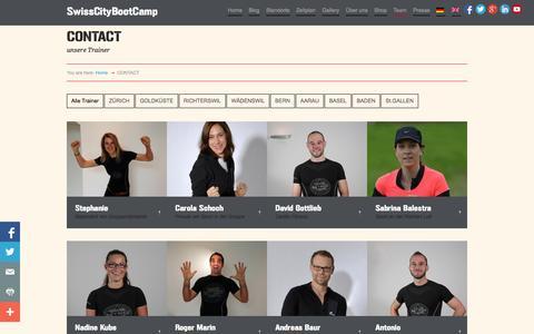 Screenshot of Contact Page swisscitybootcamp.com - Swiss-City-Bootcamp 60 Minuten effektives Workout | CONTACT - Swiss-City-Bootcamp 60 Minuten effektives Workout - captured Sept. 30, 2014