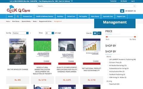 Screenshot of Team Page clickoncare.com - Buy Management Books Online : ClickOnCare.com - captured Sept. 5, 2016