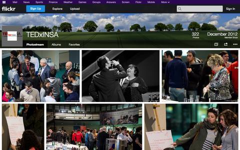 Screenshot of Flickr Page flickr.com - Flickr: TEDxINSA's Photostream - captured Oct. 25, 2014