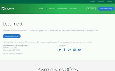 Contact Us | Paycom
