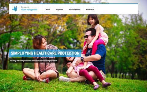 Screenshot of Home Page sghealthm.com - Singapore Health Management: Premium Health Management - captured Feb. 17, 2016