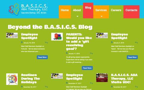 Screenshot of Blog basicsabatherapy.com - Blog Posts   - captured Sept. 27, 2018