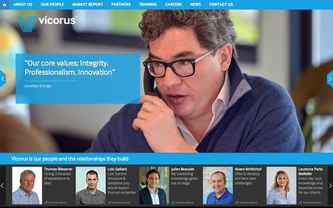 Screenshot of Home Page vicorus.com - Home | Vicorus - captured Oct. 9, 2014