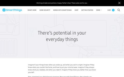 Screenshot of About Page smartthings.com - SmartThings - captured June 18, 2018