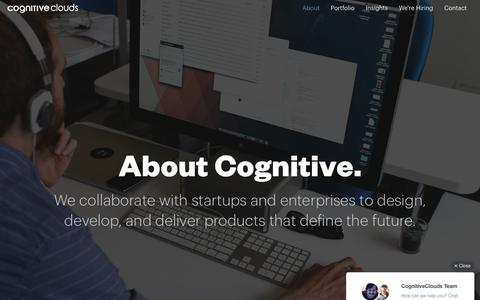 Screenshot of About Page cognitiveclouds.com - Custom Software Development Company | CognitiveClouds - captured July 14, 2016