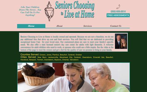 Screenshot of Home Page seniorschoosingtoliveathome.com - Senior Care | United States | Seniors Choosing To Live At Home - captured Oct. 19, 2018