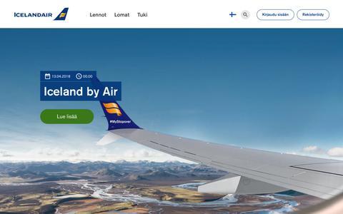 Screenshot of Blog icelandair.com - Blogi | Icelandair - captured Oct. 22, 2018