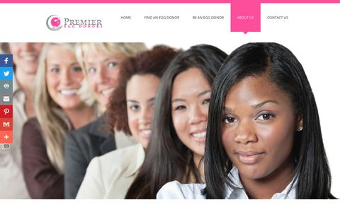Screenshot of About Page premiereggdonors.com - About Premier Egg Donors | Egg Donation Agency UK & USA - captured March 1, 2018