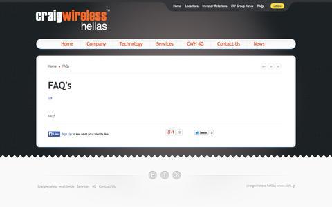 Screenshot of FAQ Page craigwireless.gr - FAQs - captured Oct. 3, 2014