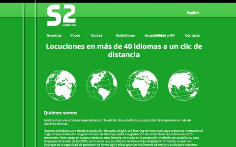 Screenshot of Home Page soni2.com - voiceover, accessibilty, audiodescription, locuciones - captured Sept. 30, 2014