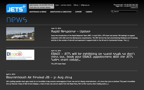 Screenshot of Press Page jets.eu - News   - captured Oct. 4, 2014