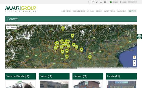 Screenshot of Contact Page maurigroup.it - Contatti | Mauri Group - captured Feb. 12, 2016