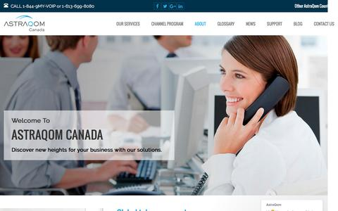 Screenshot of About Page astraqom.com - Best Business VoIP Provider - choose AstraQom Canada - captured Nov. 21, 2016