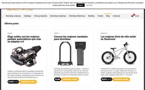 Screenshot of Blog slowroom.es - ▷ Blog Cultura Ciclista - Slowroom - Tu tienda de Bicicletas urbanas ✓ - captured Oct. 20, 2018