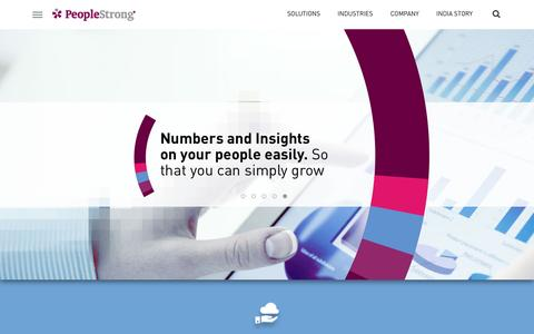 Screenshot of Home Page peoplestrong.com - PeopleStrong, HR Technology Solutions and HR SaaS Solution Provider, HR Technology Company - captured May 15, 2017
