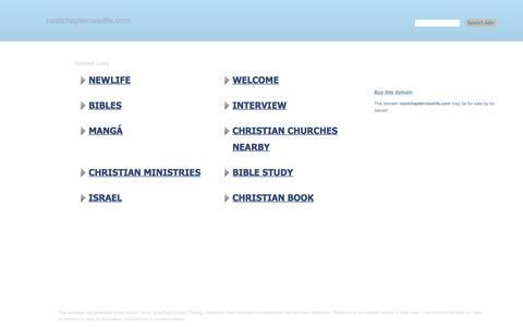 Screenshot of Home Page nextchapternewlife.com - nextchapternewlife.com-This website is for sale!-nextchapternewlife Resources and Information. - captured June 27, 2019