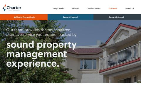 Screenshot of Team Page charterpm.ca - Our Team | Charter Property Management - captured Sept. 27, 2018