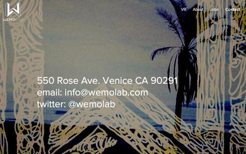 Screenshot of Contact Page wemolab.com - Contact Wemolab - captured Sept. 17, 2014