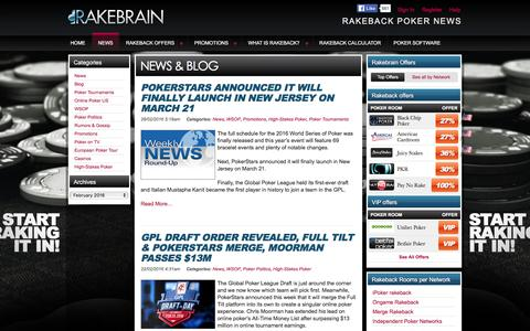 Screenshot of Press Page rakebrain.com - RakeBrain Site News And Blog - captured Feb. 26, 2016