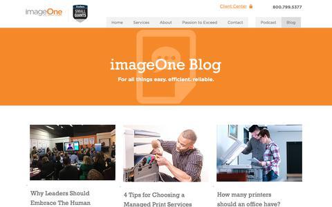 Screenshot of Blog imageoneway.com - imageOne Blog - captured Oct. 1, 2018
