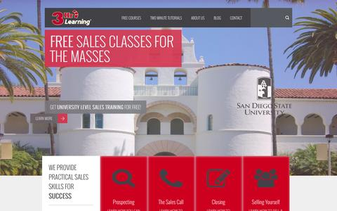 Screenshot of Home Page 3hrlearning.com - Online Sales Training Courses | 3Hr Learning - captured Oct. 9, 2014