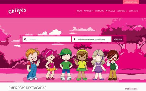 Screenshot of Home Page chilpas.com - Chilpas | Directorio Infantil | Chilpas - captured May 16, 2017