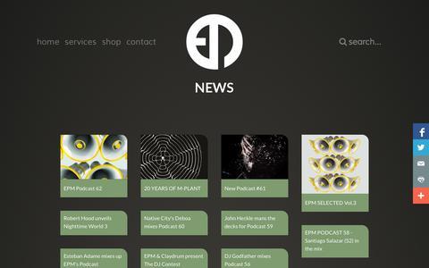 Screenshot of Press Page epm-music.com - News - captured Oct. 31, 2014