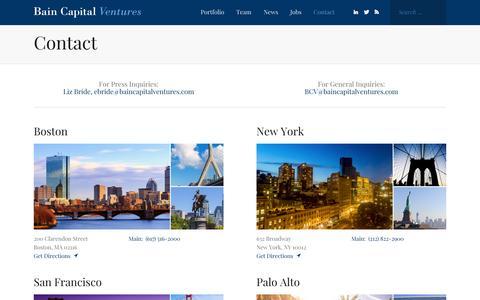 Contact - Bain Capital Ventures