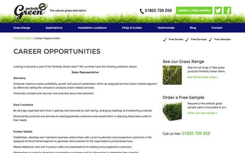 Screenshot of Jobs Page perfectlygreen.co.uk - Career Opportunities with Perfectly Green - Job Openings - captured Nov. 2, 2016