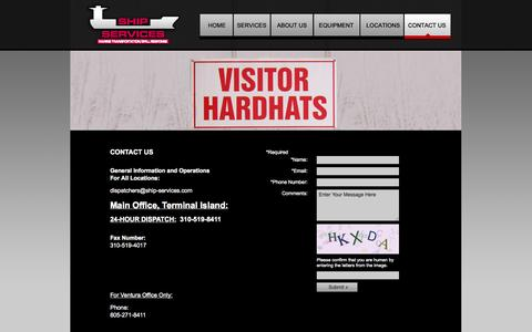 Screenshot of Contact Page ship-services.com - Contact Us | Ship Services - captured Oct. 6, 2014