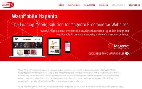Screenshot of About Page warp9inc.com - About Warp 9 - Warp-Responsive - captured Sept. 11, 2014