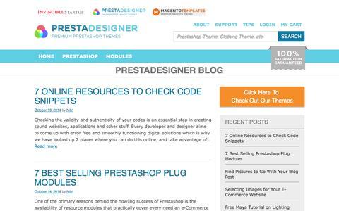 Screenshot of Blog prestadesigner.com - PrestaDesigner Blog – Prestashop and Ecommerce Web Development Blog - captured Nov. 3, 2014
