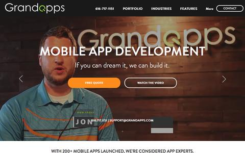 Screenshot of Home Page grandapps.com - Grand Apps | Mobile App Development - captured May 22, 2017