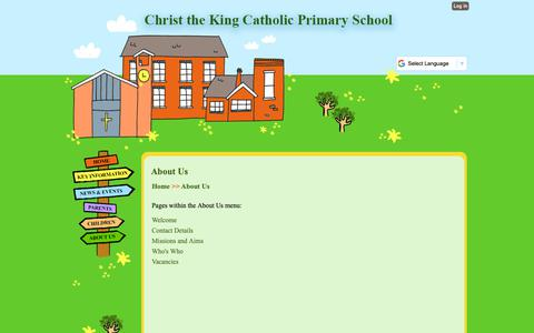 Screenshot of About Page christkng.bham.sch.uk - About Us | Christ the King Catholic Primary School - captured Oct. 26, 2018