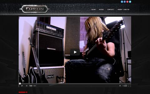 Screenshot of Home Page fortinamps.com - Homepage | Fortin Amplification - captured Oct. 6, 2014