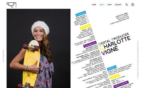 Screenshot of About Page comtuveux.com - About - Comtuveux - Identité de marque - captured July 24, 2015