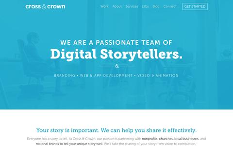 Screenshot of Home Page cacpro.com - Cross & Crown : Everyone has a story to tell - Identity • Web Design • Video : Chambersburg, PA - captured Jan. 23, 2015