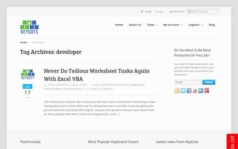Screenshot of Developers Page thekeycuts.com - developer Archives • - captured Sept. 22, 2014