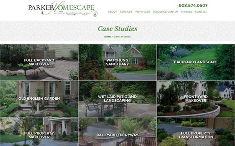 Screenshot of Case Studies Page parkerhomescape.com - Case Studies Archive - Parker HomeScape - captured Oct. 21, 2016