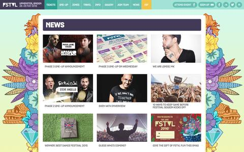 Screenshot of Press Page wearefstvl.com - News — We Are FSTVL 2016 — 28th & 29th May — Airfield of Dreams, Upminster, London - captured Jan. 27, 2016