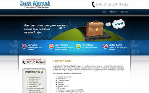 Screenshot of Services Page just-akmal.com - Layanan Kami - captured Oct. 8, 2014