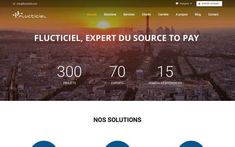 Screenshot of Home Page flucticiel.com - Flucticiel - captured Nov. 24, 2017