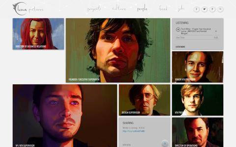 Screenshot of Team Page lumapictures.com - People - Luma PicturesLuma Pictures - captured Sept. 23, 2014