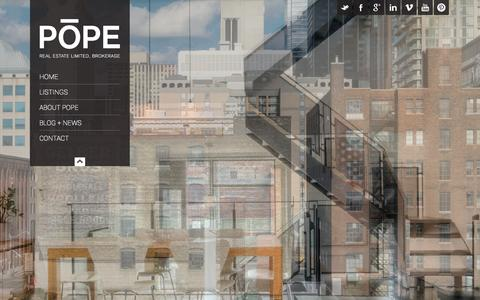 Screenshot of Home Page poperealestate.ca - Pope Real Estate Limited | Toronto, Canada - captured Oct. 2, 2014