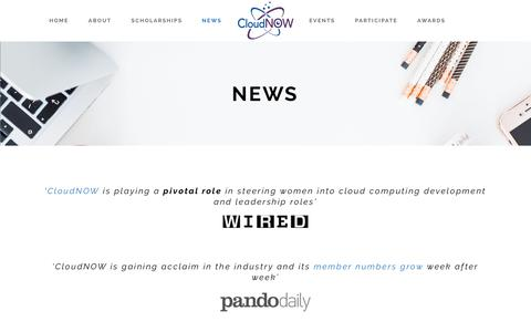 Screenshot of Press Page cloud-now.org - Cloud-Now |   News - captured Sept. 28, 2018