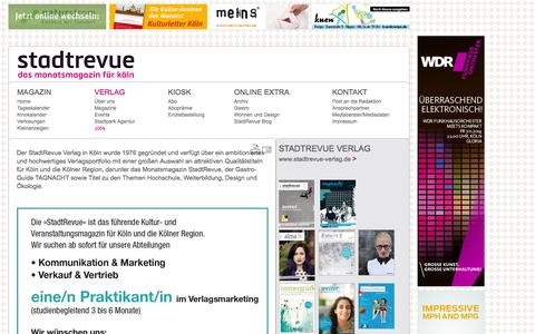 Screenshot of Jobs Page stadtrevue.de - Jobs: StadtRevue Verlag GmbH - captured Oct. 30, 2014