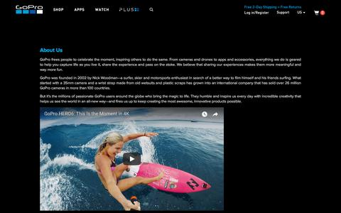 GoPro Official Website - Capture + share your world - About Us